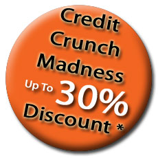 Credit crunch madness upto 30% discount of selected valets